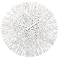 Koziol 2328525 Silk Clock, White [並行輸入品]