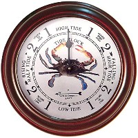 6' Cherry Blue Crab Tide Clock by West and Company [並行輸入品]