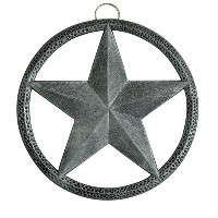 High Quality Round Star Trivet, 8-Inch, Antique Pewter