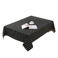 Zhhlaixing 高品質の Home Classic Linen Cotton Tablecloth Dustproof Simple Plaid Dining Table Cloth