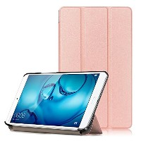 MS factory docomo dtab Compact d-01J / HUAWEI MediaPad M3 8.4インチ ケース 3点セット 【保護フィルム+クリーニングクロス】 付 三つ折...