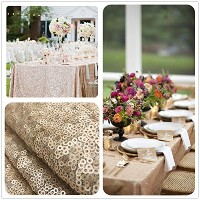 B-COOL Sequin Tablecloth Champagne Blush 50x50 Sparkly Sequin Tablecloth The most popular in 2016....