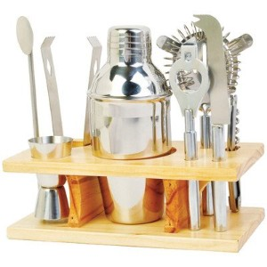 9 PC STEEL COCKTAIL SET