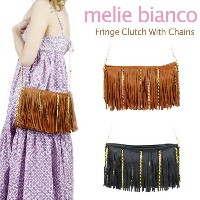 melie bianco Fringe Clutch With Chains メリービアンコ チェーン ショルダーバッグ クラッチバッグ【楽ギフ_包装選択】【r】【74】[CC]
