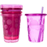 The First Years Take  Toss Pink Straw Cups BPA-Free - 10 oz 4 count Video