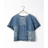 ★dポイントが貯まる★【NOLLEY'S(MUR)】S 【Sea New York/シー ニューヨーク】 Bleached Patchwork Top (RS16?16)【dポイントでお得に購入】