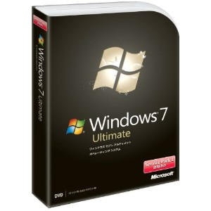 Microsoft Windows 7 Ultimate 通常版 Service Pack 1 適用済み