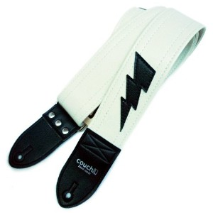 Couch Guitar Strap Lightning Bolt WH ギター用ストラップ