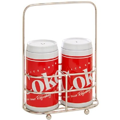 Salt and Pepper Holder - Coca Cola Metal Tin Metal Box New Gifts Toys 776867