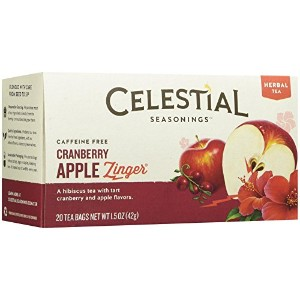 Celestial Seasonings 0630244 Herbal Tea Caffeine Free Cranberry Apple Zinger - 20 Tea Bags