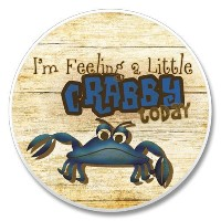 AutoCoaster ~ Feeling a Little Crabby ~タイルDrink Coaster for car cupholder – コード486