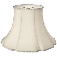 Royal Designs Scalloped Oval Bell Designer Lamp Shade, Eggshell, (9 x 7) x (18 x 14) x 12.5 by ...
