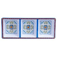 Certified International Corp Tuscany 3-Section Tray, 14.5 by 5.75, Multicolored by Certified...