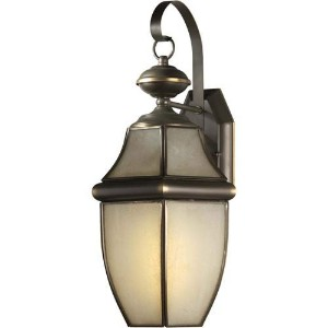 Forte Lighting 10020-01-14 Traditional 1-Light CFL Exterior Wall Lantern, Royal Bronze Finish with...