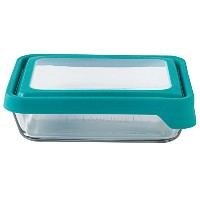 Anchor Hocking 6 Cup True Seal Rectangular Food Storage Container, Teal by Anchor Hocking