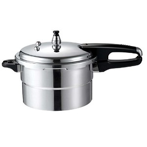 Euro-Ware 314 Deluxe Aluminum Pressure Cooker With Steamer Plate and Auto Lock System, 4.5 quart,...