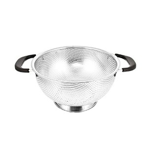 "米国キッチン供給3 Quart 9 ""ステンレススチールMicro Perforated Colander Strainer Basket with Coated Heat Resistant..."