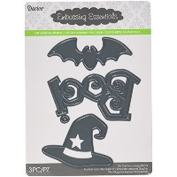 Darice 2014-78 Die Cut Halloween Shapes Boo Bat & Witch Hat Paper Craft Supply by Darice