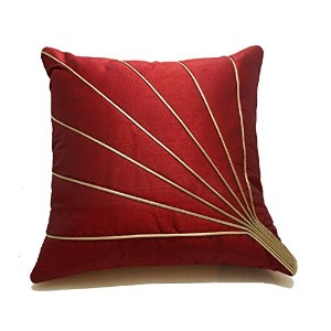 BLOOMS RAY CUSHION COVER RED 30x30 CMS (1 PC)