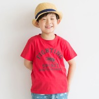 【3can4on(Kids) (サンカンシオン)】クワガタプリントTシャツキッズ トップス|カットソー・Tシャツ レッド
