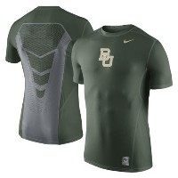 Baylor Bears Nike Sideline Hypercool 3.0 Fitted Dri-FIT Top メンズ Green ナイキ NCAA Tシャツ カレッジ インナー