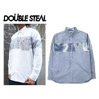 DOUBLE STEAL DOUBLESTEAL ダブルスティール ボーダーシャツ MIX BORDER B.D. Shirt 741-38002 ボタンシャツ ストライプシャツ OLLIE...