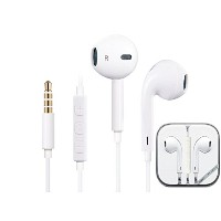 Earphones with Remote and Mic (iPod・iPhone用イヤホン) スマホ 多機種対応 新型 イヤホン リモコン付き マイク付き (ホワイト) SQ-6/E