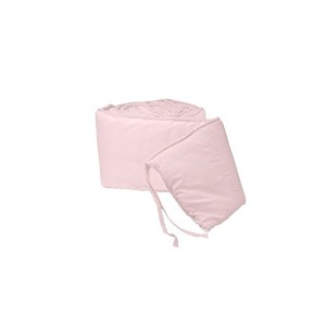 Tailored Baby Cradle Bumpers - Color Pink - Size 18x36 by Baby Doll