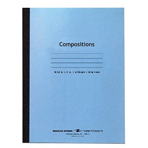 Stitched Composition Book, Wide Rule, 8 x 10-1/2, WE, 48 Pages (並行輸入品)