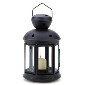 Gifts & Decor Black Colonial Style Candle Holder Hanging Lantern Lamp by Gifts & Decor