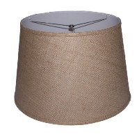 Lamp Factory BUR141812 A Ray Of Light 14 inches by 18 inches by 12 inches Brown Burlap Modified...