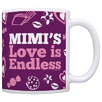 Mother's Day Gift for Mimi's Love is Endless Funny Gift Coffee Mug Tea Cup Purple by ThisWear