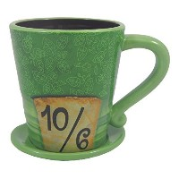 Disney Parks Alice in Wonderland Mad as a Hatter Ceramic Coffee Mug - Disney Parks Exclusive &...