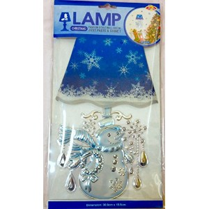 LAMP(BLUE) CHRISTMAS WALL DECO ウォールデコレーション