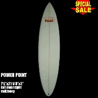 """Power Point パワーポイント サーフボード ファン 7'6"""" フィン付 Funboard (A60309)サーフィン サーフボード Surfboard 未使用アウトレット特価【代引不可】"""