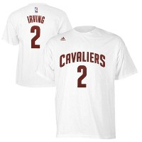 Kyrie Irving Cleveland Cavaliers adidas Net Number T-Shirt メンズ White NBA Tシャツ クリーブランド キャバリアーズ カイリー...