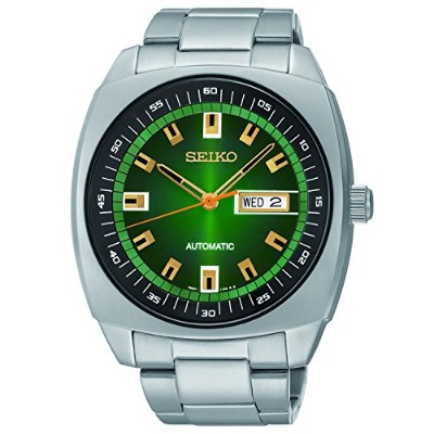 [セイコー]Seiko 腕時計 Analog Display Green Dial Automatic Silver Toned Steel Watch SNKM97 メンズ [並行輸入品]