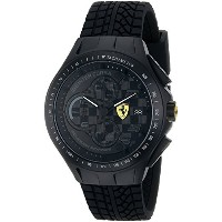 フェラーリ Ferrari Men's 0830105 Race Day Analog Display Quartz Black Watch [並行輸入品]