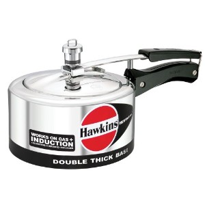 Hawkins Hevibase IH20 2-Litre Induction Pressure Cooker, Small, Silver by Hawkins Hevibase