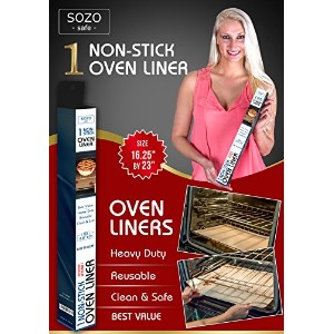 Oven Liner - Non Stick Teflon - SOZO Safe - Size 16.25x23 - Fits Up To 30 Oven Toaster Grill by...
