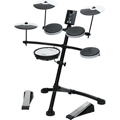 Roland V-Drum Compact Electronic Drum Kit, Silent Kick, Mesh Snare Drum Head, TD1KV