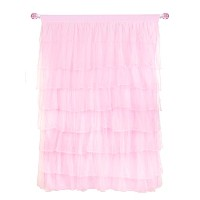 Tadpoles Multi-Layer Tulle Curtain Panel, Pink, 84'' by Tadpoles