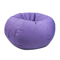 Gold Medal 31008484917 Small Denim Bean Bag with Pocket for Children, Purple by Gold Medal
