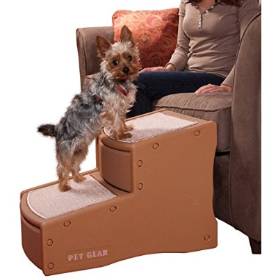 Pet Gear Easy Step II Pet Stairs, 2-step/for Cats and Dogs up to 150-pounds, Cocoa by Pet Gear