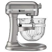 KitchenAid Professional 600 Design Series 6 Qt Glass Bowl Lift Stand Mixer - KF26M22SR - Sugar...