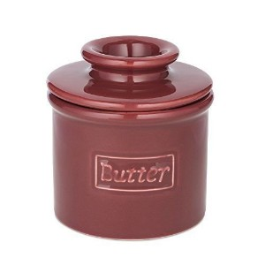 The Original Butter Bell Crock by L. Tremain, Cafe Collection Crimson by Butter Bell