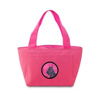 Caroline's Treasures SS4799-PK Schnauzer Lunch or Doggie Bag, Large, Pink [並行輸入品]