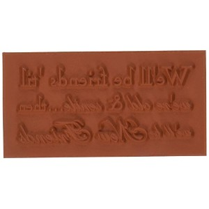 """Deep Red Cling Stamp 3.5""""X1.75""""-Old & New Friends (並行輸入品)"""