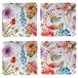 Certified International by Lisa AuditレインボーSeeds Set of 4 Dinner Plates 10.75""