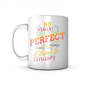 No Woman Is Perfect Except Those Born In January レディース お誕生日 Tシャツ